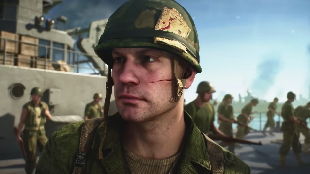 Battlefield V War in the Pacific US soldier