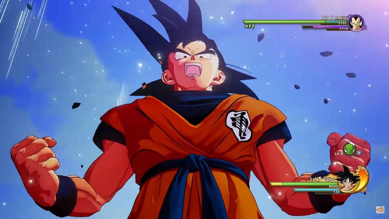 Dragon Ball Z: Kakarot Goku charging up