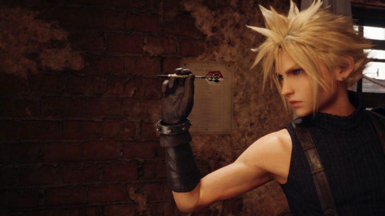 Final Fantasy VII Remake Cloud darts