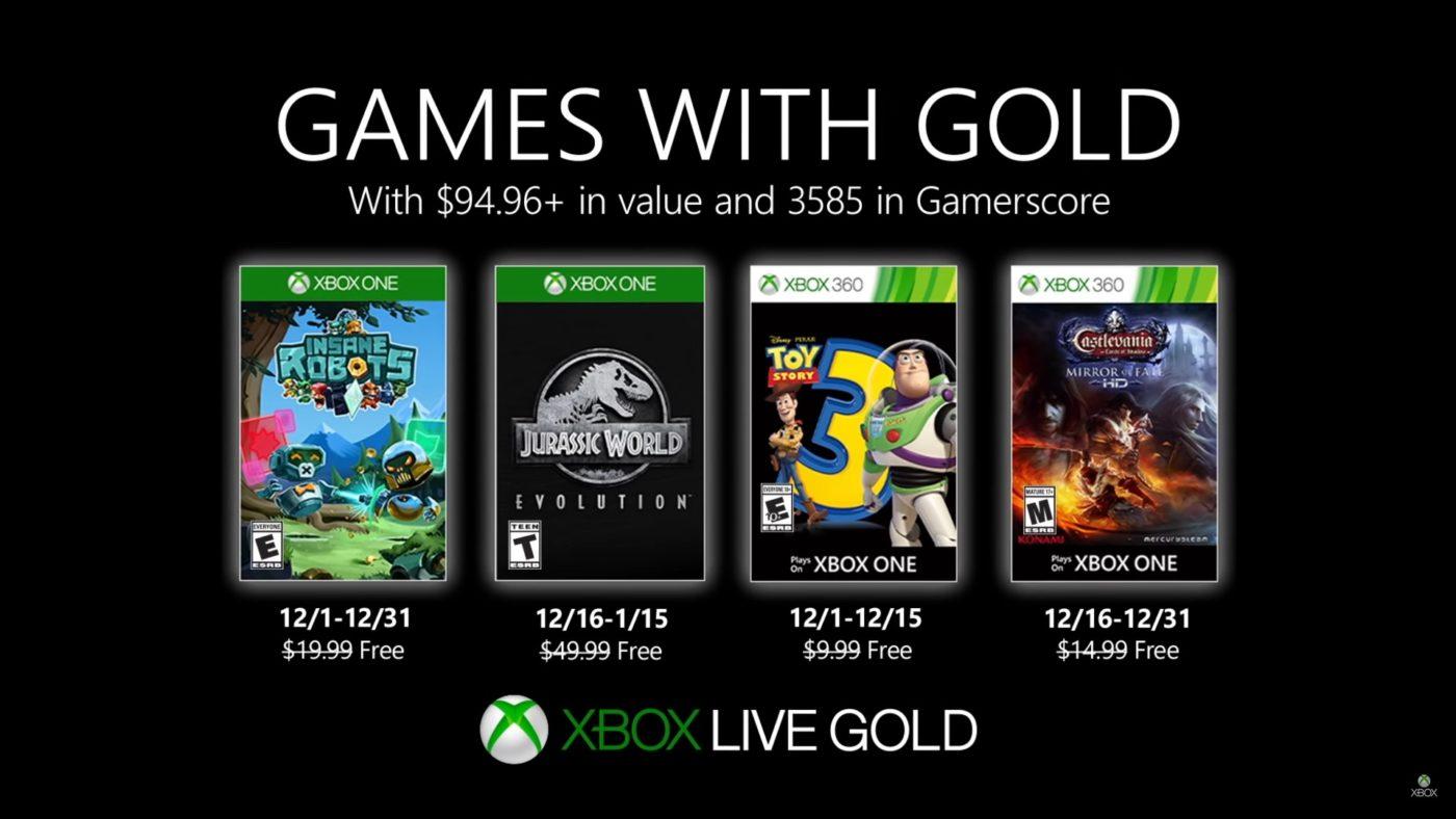 Xbox Live Gold Free Games Dec 2019
