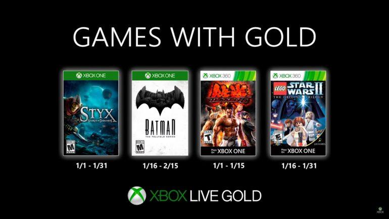 Xbox Live Gold Jan 2020