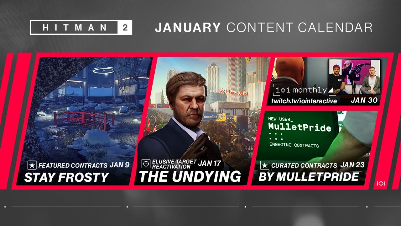 HITMAN 2 January Content Calendar