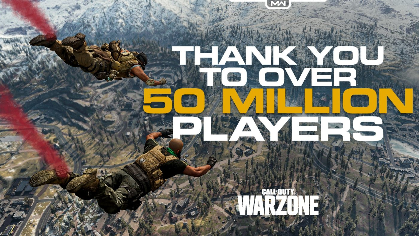 Call of Duty: Warzone 50 million
