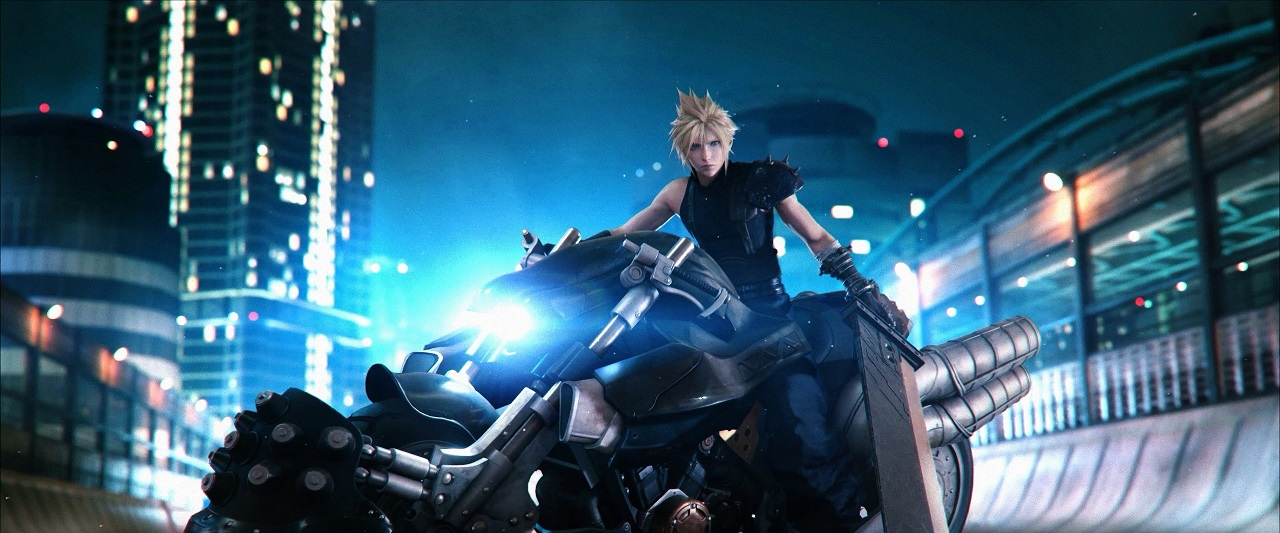 Final Fantasy VII Remake Cloud on bike