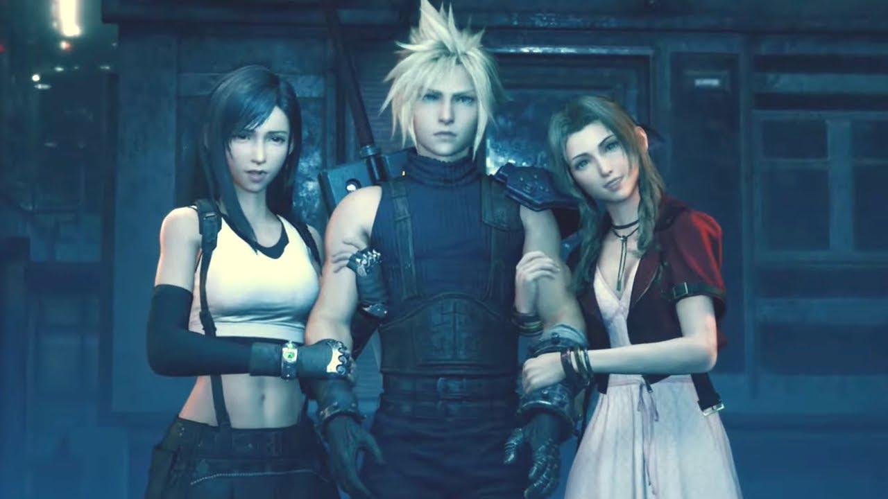Final Fantasy VII Remake Cloud Tifa and Aerith
