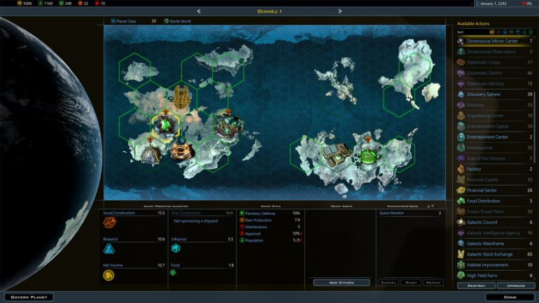 Galactic Civilization III DLC screenies