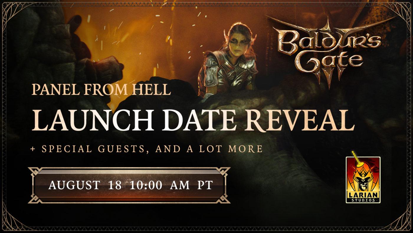 Baldur's Gate III Launch Date Reveal