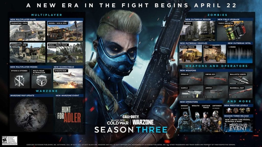 Call of Duty Black Ops Cold War and Warzone Season 3