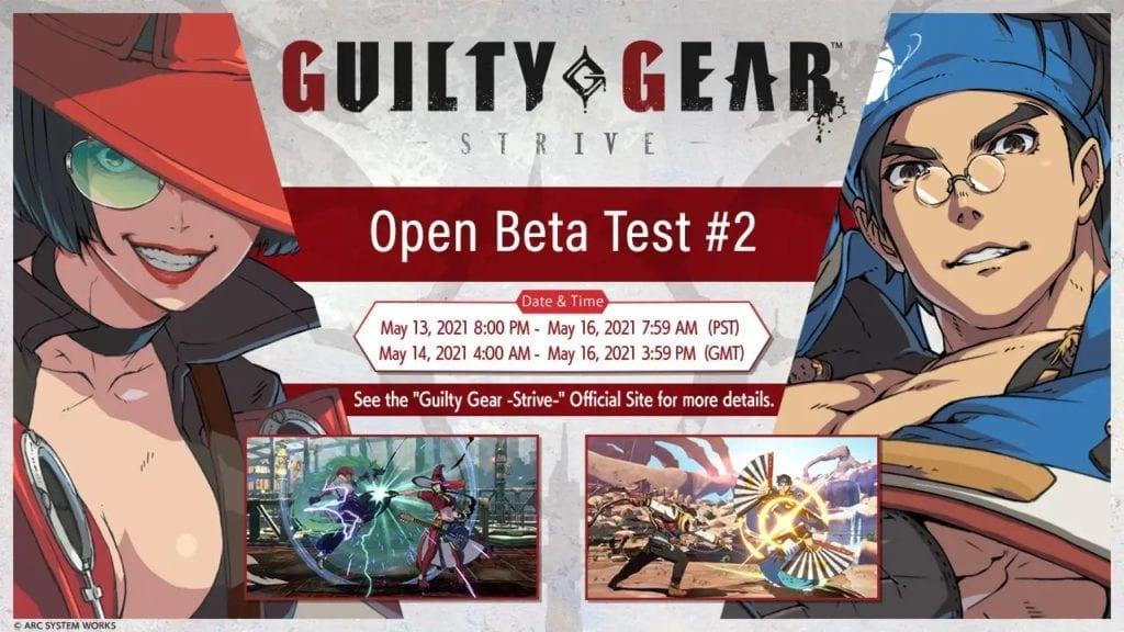guilty gear strive open beta test