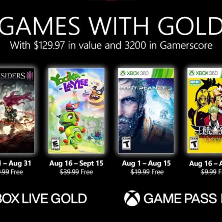 Xbox Games with Gold August 2021
