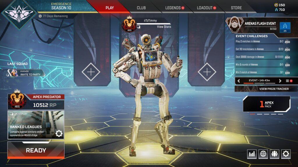 Apex legends streamer iiTzTimmy Predator rank