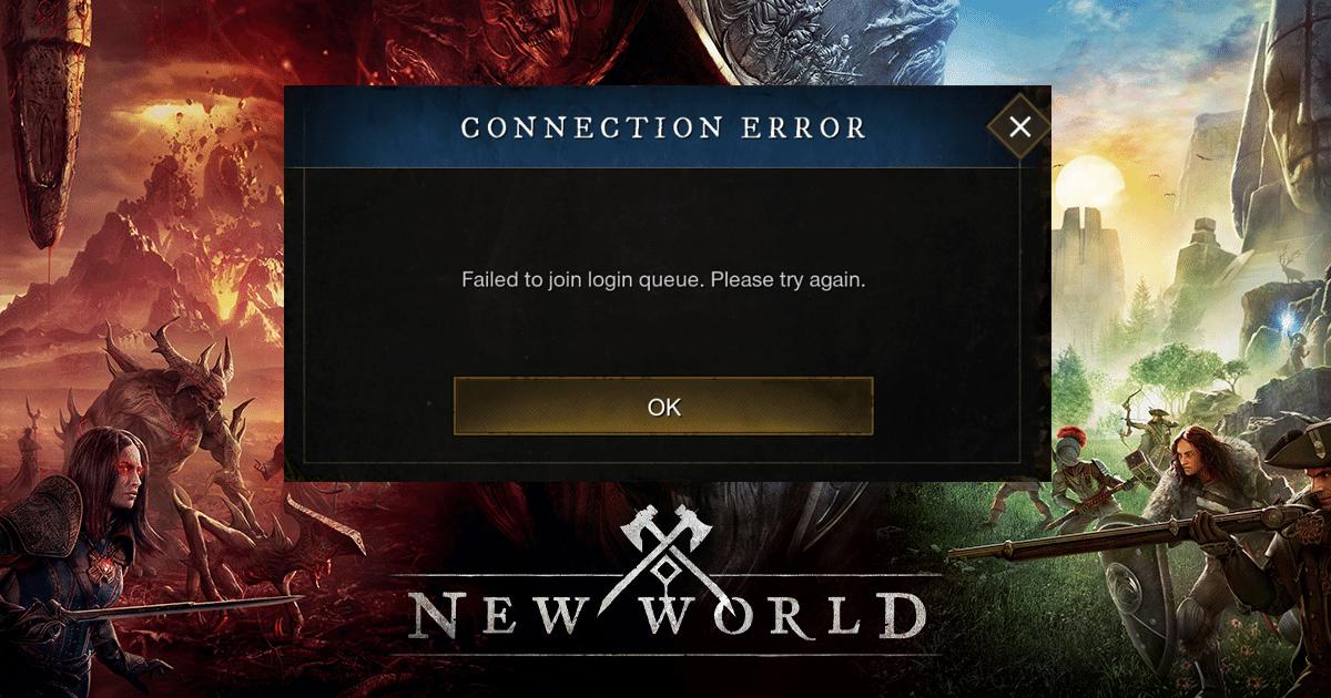 New World Connection Error