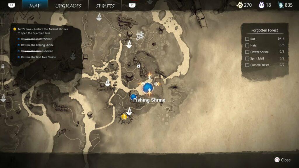 fishing shrine puzzle map